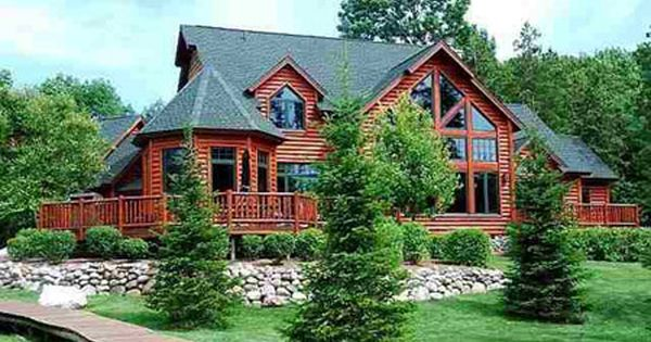 The creedmoor plan 112 016 materials only 2 964 sq ft for Log cabin dream homes