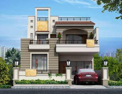 Villa 25X50 E | Duplex House Design, Modern Exterior House Designs, Independent House