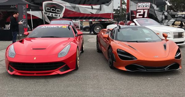 Video 800hp Ferrari F12 Vs Mclaren 720s Ferrari F12 Ferrari