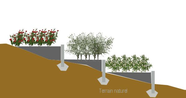 Am nagement terrain en pente jardinage pinterest search - Amenager terrain en pente ...