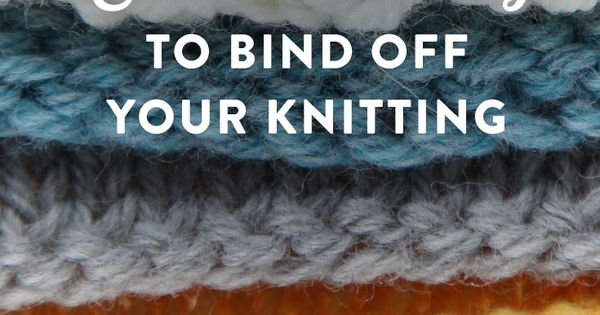 Knitting How To Bind Off Purlwise : How to bind off knitting tutorials for different