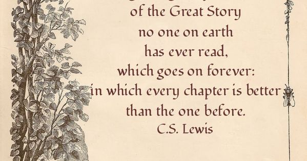 chapter one of the great story. reading, books authors cslewis