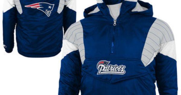 Preschool New England Patriots Starter Navy Blue Breakaway Quarter Zip Jacket Jackets Football Jackets Quarter Zip Jacket