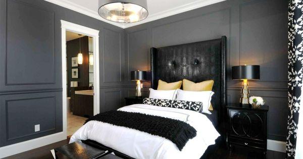 Schlafzimmer schwarz ~ Designer schlafzimmer schwarz weiß grau kaminofen ideen rund ums