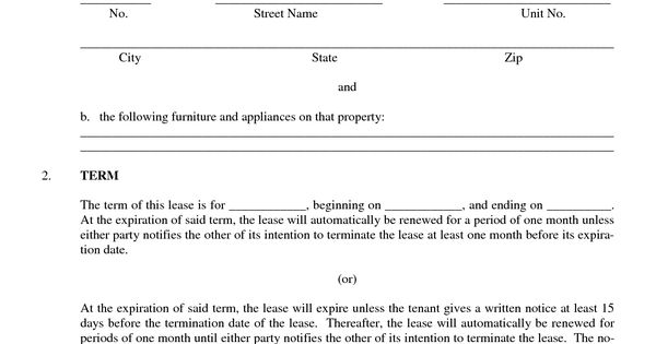 Sample Lease or Rental Agreement rental forms Pinterest - stock purchase agreement template