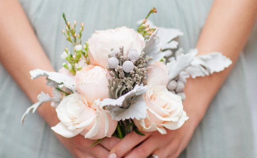 Soft colored bridesmaid bouquet with frosted details by Posy #bouquet #bridesmaidbouquet #weddingflorals http://www.posyflorals.com/