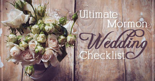 the ultimate lds wedding checklist. Black Bedroom Furniture Sets. Home Design Ideas