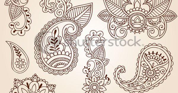 Free Henna Designs | henna doodles mehndi tattoo design elements set royalty