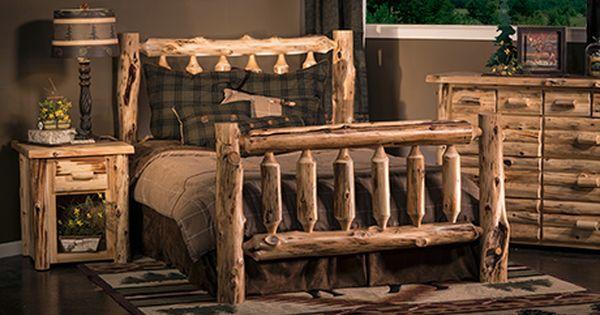 Rustic Bedroom Furniture Remodel, Log Furniture Place