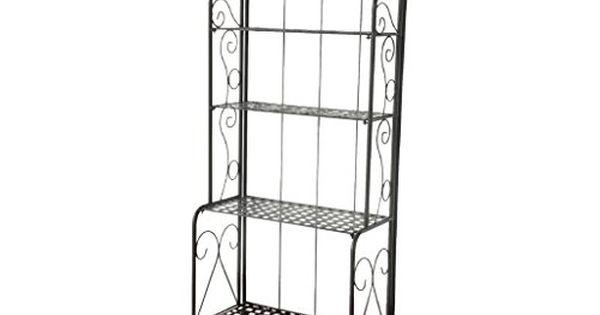 Outdoor Storage Benches 4tier Iron Indooroutdoor Bakers Rack