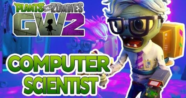 Plants Vs Zombies Garden Warfare 2 Computer Scientist Legendary Character Showcase Plants Vs Zombies Plant Zombie Zombie