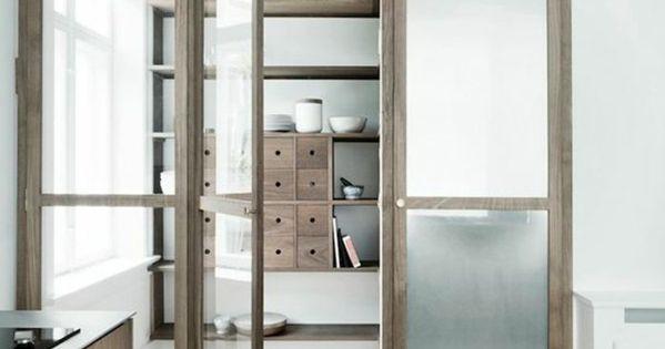 Porte En Verre Et Chene Cloison Amovible Ikea Pour Moduler La Chambre Am Nagement Bureau