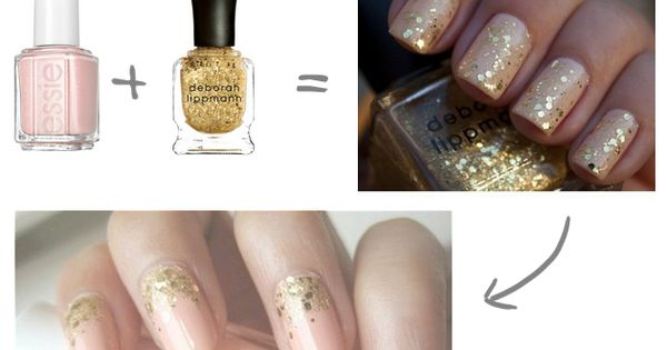 DIY Nude Nails With A Touch Of Sparkle | Bridal Musings