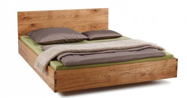 Eikenhouten bed naps massief houten hoofdbord bedden slaapkamer pinterest beds interiors - Massief houten platform bed ...