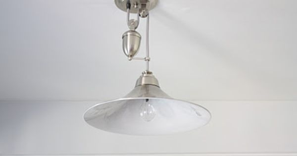 Pulley Light Fixture Can Be Raised Lowered Cool