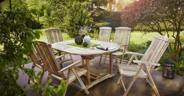 Sam Gartengruppe 7 Teilig Gartenmobel Aus Teak Holz 6 X Garten Hochlehner 1 X Auszieh Tisch Terrassen Mobel A Aussenmobel Gartenmobel Outdoor Dekorationen