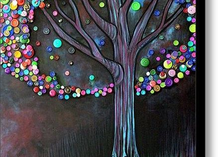 Button tree painting. I really want to do this now!