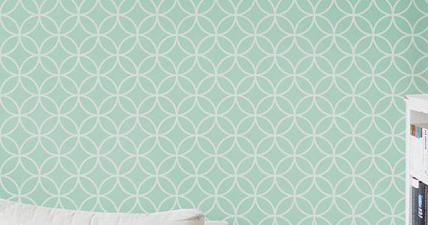 du papier peint sans colle vinyles paroi amovible et cercles. Black Bedroom Furniture Sets. Home Design Ideas