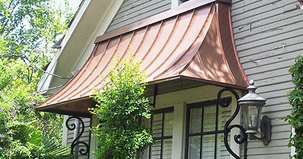 Pin By Megan Mcgraw On House Features I Love House Exterior Copper Awning Metal Awning