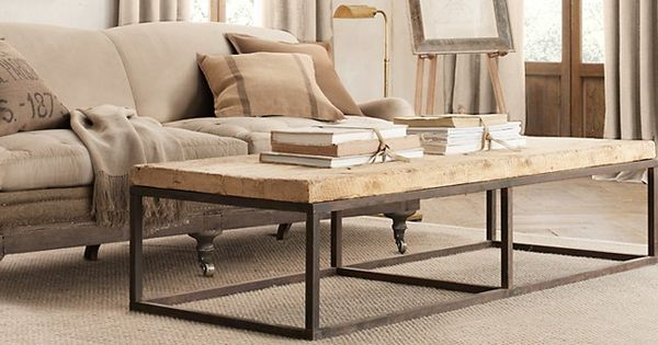 Reclaimed French Floorboard Coffee Table Collection From