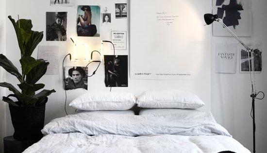 ... !) - Bedroom.  Pinterest - Grijs, Zwart wit slaapkamers en Bed muur