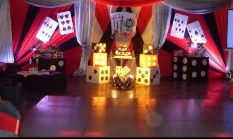 Las vegas casino decor decoraciones para aos con motivos for Decoraciones d casa