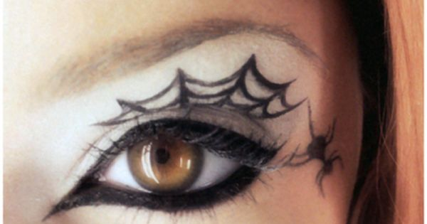 halloween makeup make up inspiration: spider web