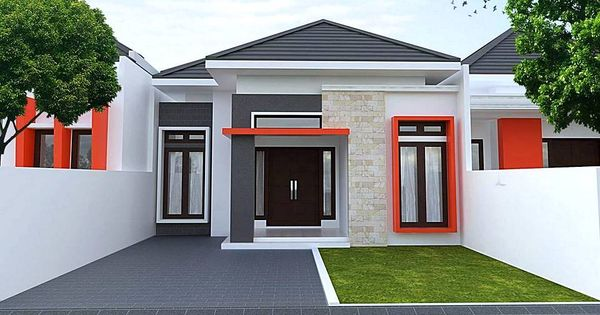 desain rumah minimalis type 36 tampak depan 1 lantai