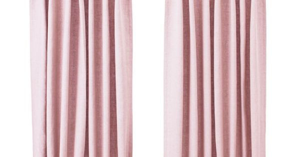 ikea aina pink linen curtains this ones for the girls