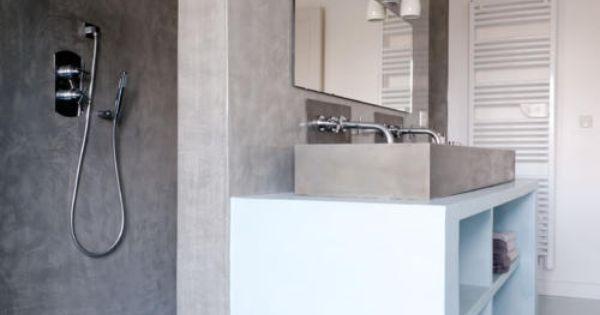 duschbereich hinter der wand w nde modern und badezimmer. Black Bedroom Furniture Sets. Home Design Ideas