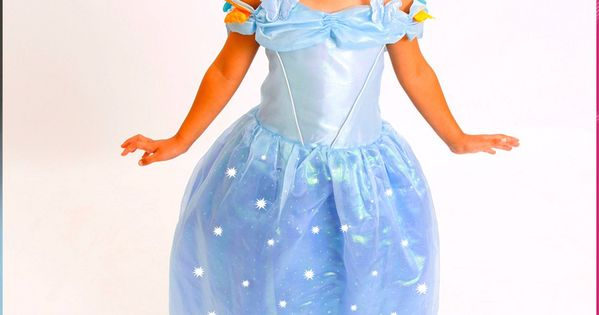 with Accessories M 4-6 5-7 2-4 S Cinderella Princess Costume Light up Size T