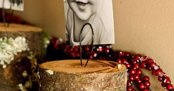 Great Stocking Holder Idea... Also doubles as a picture holder.