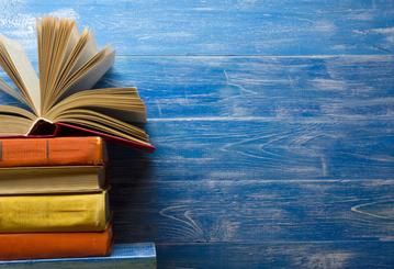 Back To School Party With Old Books Blue Wood Hu0206 Powerpoint Background Design Poster Background Design Wallpaper Powerpoint
