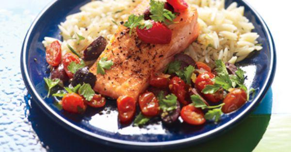 Tuscan Salmon with Rosemary Orzo Photo - Salmon Recipe | Epicurious.com