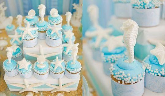 Pool Party/ mermaid Cupcakes