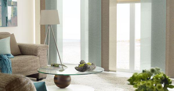 diese tolle farbkombination der rollos und fl chenvorh nge. Black Bedroom Furniture Sets. Home Design Ideas