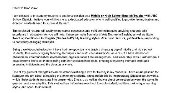 letter of introduction for a teacher