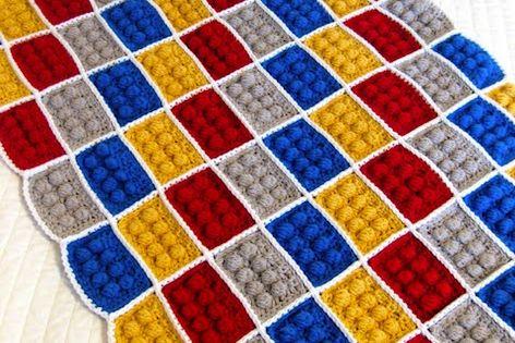 Crochet Lego Blanket Pattern; Etsy EtsyPattern PatternforPurchase crochet blanket afghan forboys Legos