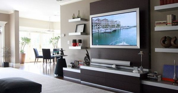 15 wall mount tv designs for decorating ideas deco sous sol pinterest wall mount designs and decorating ideas - Wall Tv Design Ideas
