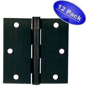 Cosmas Flat Black Door Hinge 3 5 Inch X 3 5 Inch With Square Corners 12 Pack By Cosmas 16 68 Cosmas Hardware I Black Door Hinges Black Doors Door Hinges