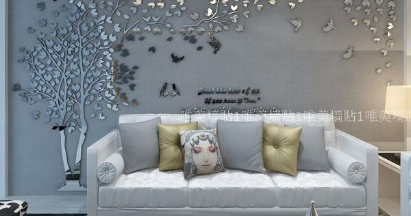 Boom boom liefhebbers 3d stereo acryl kristallen muurstickers woonkamer eetkamer slaapkamer bank - Deco loungeeetkamer ...