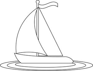 Simple Car Outline Sailboat Clip Art Images Sailboat Stock