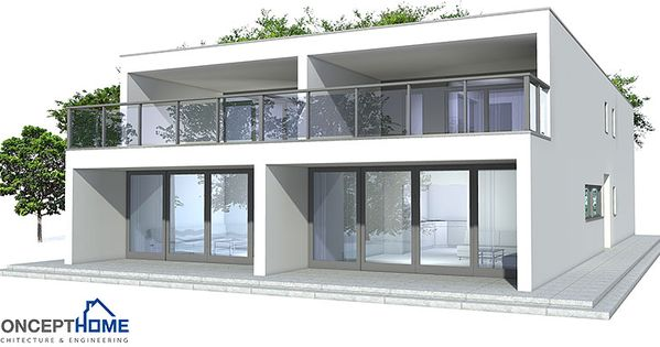 Contemporary duplex house to narrow lot three bedrooms for Contemporary duplex plans