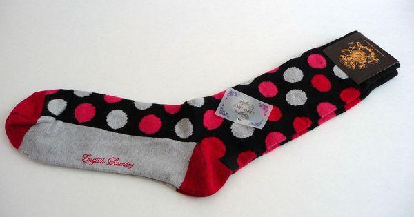 Christopher Wicks English Laundry Men 039 S Red Dots Socks 1 Size