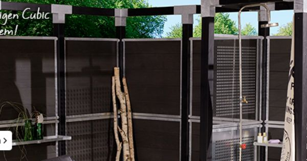 Cubic pergola o a bij karwei nieuw bouw huis pinterest bouw tuin en hout - Moderne tuin ingang ...