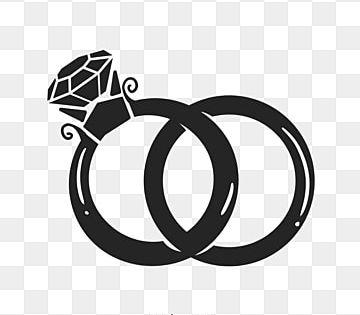 صورة ظلية من خاتم الزواج من الطوب الأسود حفل زواج كرتون حب القلب Png وملف Psd للتحميل مجانا In 2021 Wedding Ring Clipart Heart Hands Drawing Black Background Painting