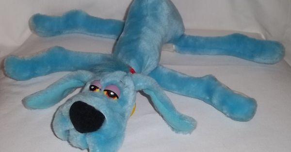 foofur the blue dog 1988 dakin plush foofur cartoon dog blue stuffed animal toy hanna. Black Bedroom Furniture Sets. Home Design Ideas