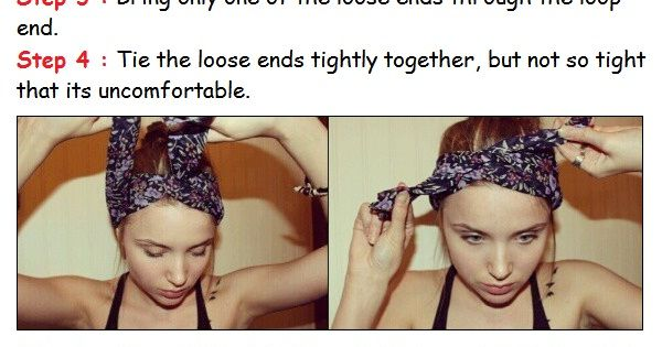 Scarf headband tutorial. Great for bad hair days or just a cute
