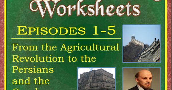 Crash course world history worksheets episodes 1 5 crash course