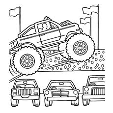10 Wonderful Monster Truck Coloring Pages For Toddlers Monster